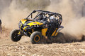 Custom twin seater rally buggy kicking up trail of dust on sand brits south africa july africa offroad racing july at koster north Royalty Free Stock Image