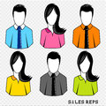 Customer care advisors vector avatars Stock Images