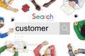 Customer Client Buyer Target Shopper User Concept