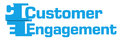 Customer Engagement Blue Abstract Stripes