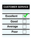 Customer excellent service Arkivfoton