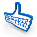 Customer Experience Thumbs Up Symbol Client Satisfaction Enjoyment Royalty Free Stock Photo