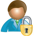 Customer lock Icon Stock Photo