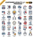 Customer loyalty concept icons