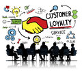 Customer loyalty service support care trust business concept Royalty Free Stock Photo