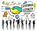 Customer loyalty service support care trust business concept Stock Photography