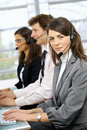 Customer operators service Royaltyfri Bild