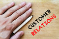 Customer relations text concept