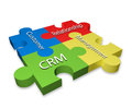 Customer relationship management crm puzzle diagram Royalty Free Stock Images