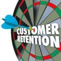 Customer Retention Dartboard Perfect Dart Hit