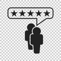 Customer reviews, rating, user feedback concept vector icon. Fla
