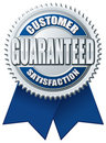 Customer Satisfaction Guaranteed Blue Silver Royalty Free Stock Images