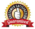 Customer satisfaction guaranteed vector illustration of guarantee seal Royalty Free Stock Photography