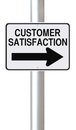 Customer satisfaction a modified one way street sign on Royalty Free Stock Image