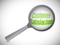 Customer satisfaction under inspection illustration design over white Stock Photos