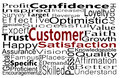 Customer service business concept expressed with word collage Stock Photography