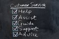 Customer service concept words written on the chalkboard Royalty Free Stock Photo