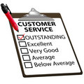 CUSTOMER SERVICE evaluation report form Royalty Free Stock Photography