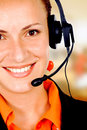 Customer service girl Stock Photo