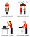 Customer service icons Stock Image