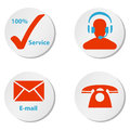 Royalty Free Stock Photos Customer service icons buttons and symbols