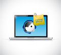 Customer service laptop and representative concept illustration design over white Royalty Free Stock Image
