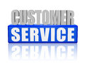 Customer service - letters and block Royalty Free Stock Image