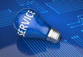 Customer service light bulb as a background Royalty Free Stock Image