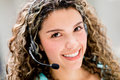 Customer service operator looking very friendly and smiling Stock Image
