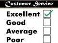 Customer service satisfaction survey vector Stock Photography