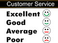 Customer service satisfaction survey vector Royalty Free Stock Photography