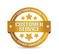 customer service seal illustration design
