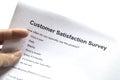 Customer service survey Royalty Free Stock Photo