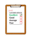 Customer Service Survey Clipboard Royalty Free Stock Photo