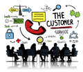 The Customer Service Target Market Support Assistance Concept Royalty Free Stock Photo