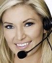 Customer service woman on call Royalty Free Stock Photos