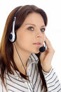Customer support girl.Call center Royalty Free Stock Photo