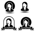Customer Support - Illustration Royalty Free Stock Photo