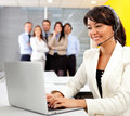 Customer support operator Stock Photo