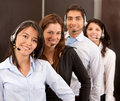 Customer support operators Stock Photo