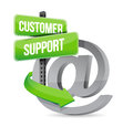 Customer support at sign illustration design over white Stock Photo