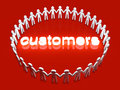 Customers a group of icon people standing in a circle Royalty Free Stock Images