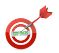 Customers target and dart illustration design over a white background Royalty Free Stock Image