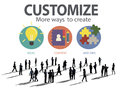 Customize ideas identity individuality innovation personalize co concept Royalty Free Stock Photo