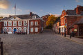 Customs House in Exeter. Evening light Royalty Free Stock Photo