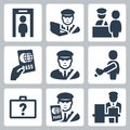Customs vector icons Royalty Free Stock Photo