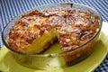 Cut baked potato pie Royalty Free Stock Photo