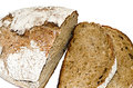 The cut bread fresh on a white background Royalty Free Stock Images