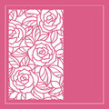 Cut card with stylization roses Stock Image