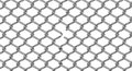 Cut chain link piece of fence Royalty Free Stock Photography
